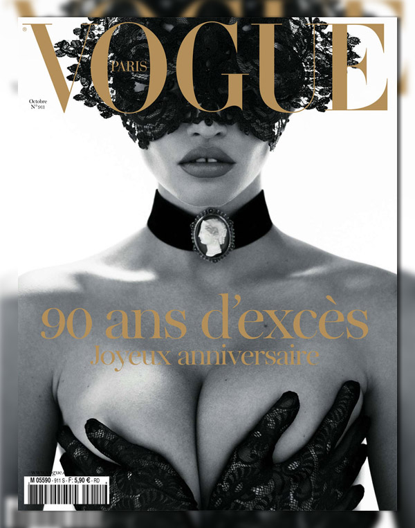 Vogue Paris October 2010 Cover | Lara Stone by Mert & Marcus