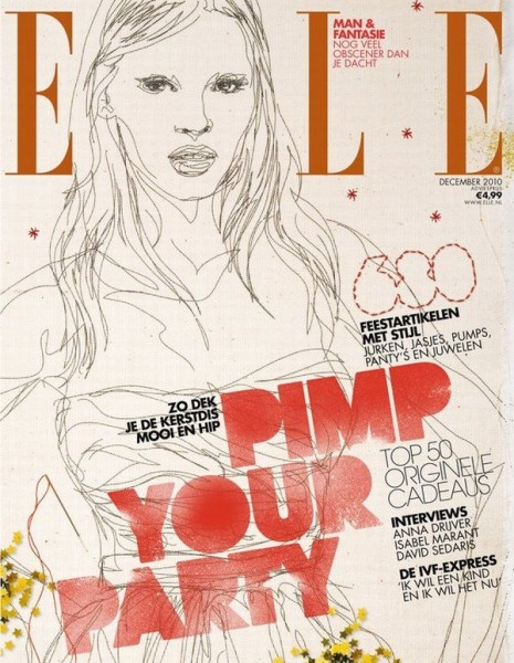 <em>Elle Netherlands</em> December 2010 Cover | Lara Stone