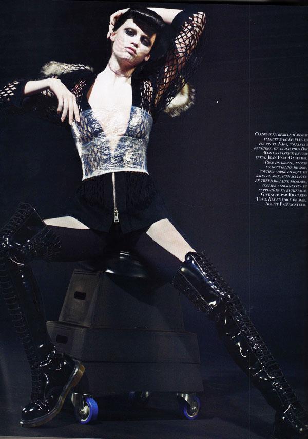 Steven Klein Shoots Lara Stone for Vogue Paris October