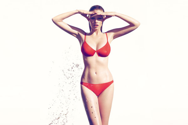 Campaign   Lara Stone for Eres Cruise 2010 by Camilla Akrans