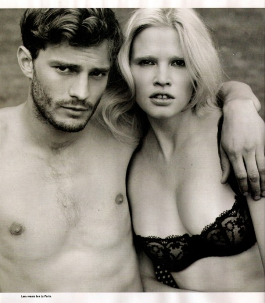 i-D December 2009 | They Love Happily Ever After–Lara Stone & Jamie Dornan by Alasdair McLellan