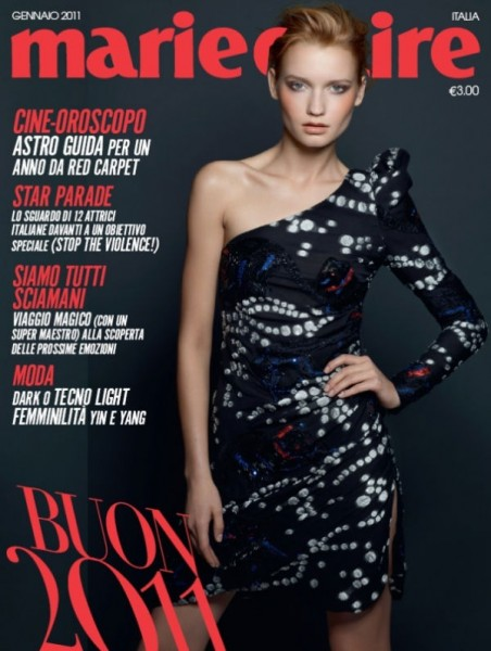 Laura Blokhina for <em>Marie Claire Italia</em> January 2011