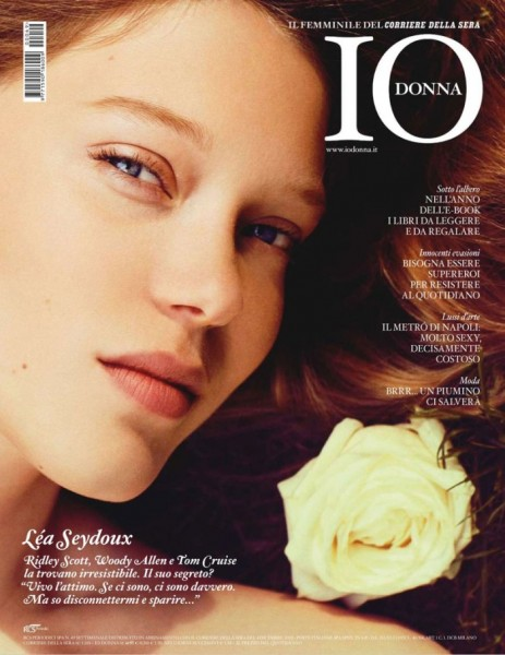 Léa Seydoux by Sylvie Malfray for <em>Io Donna</em> December