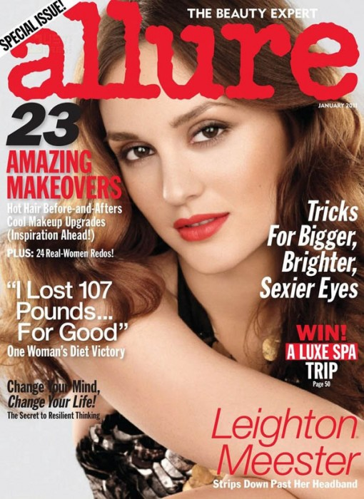 Allure January 2011 Cover   Leighton Meester by Michael Thompson
