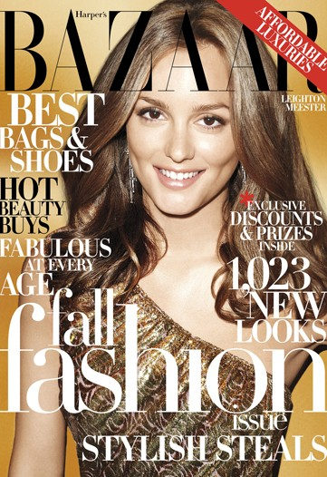 Harper's Bazaar US September 2009 – Leighton Meester by Terry Richardson