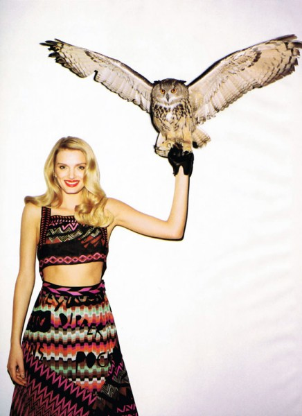 Lily Donaldson by Terry Richardson for <em>Harper's Bazaar US</em> January 2011