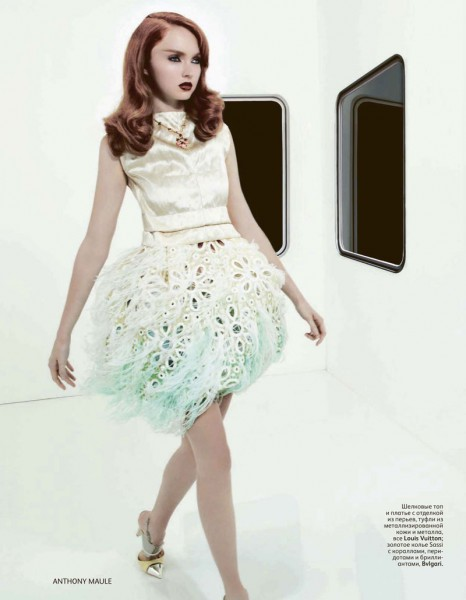 Lily Cole by Anthony Maule for <em>Vogue Russia</em>