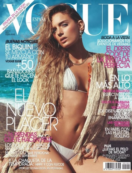 Vogue Spain May 2012 Cover | Lily Donaldson by Alexi Lubomirski