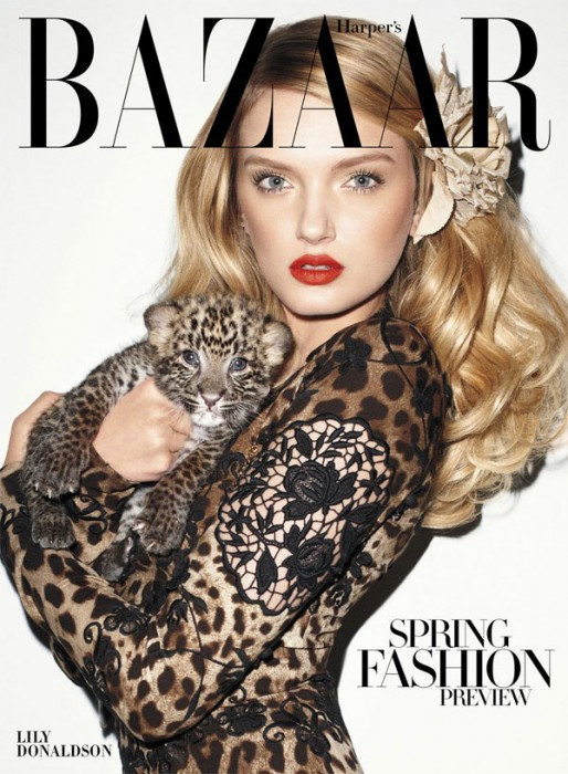 Lily Donaldson for Harper's Bazaar US January 2011 by Terry Richardson