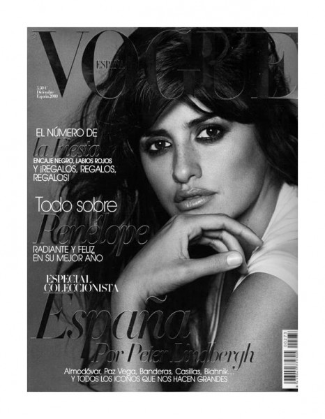 Penelope Cruz for Vogue Spain December 2010 by Peter Lindbergh