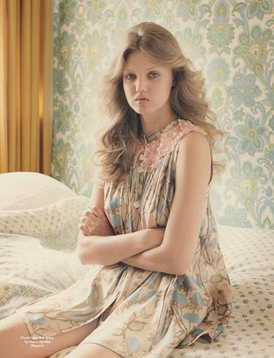 Morning Beauty | Lindsey Wixson by Venetia Scott