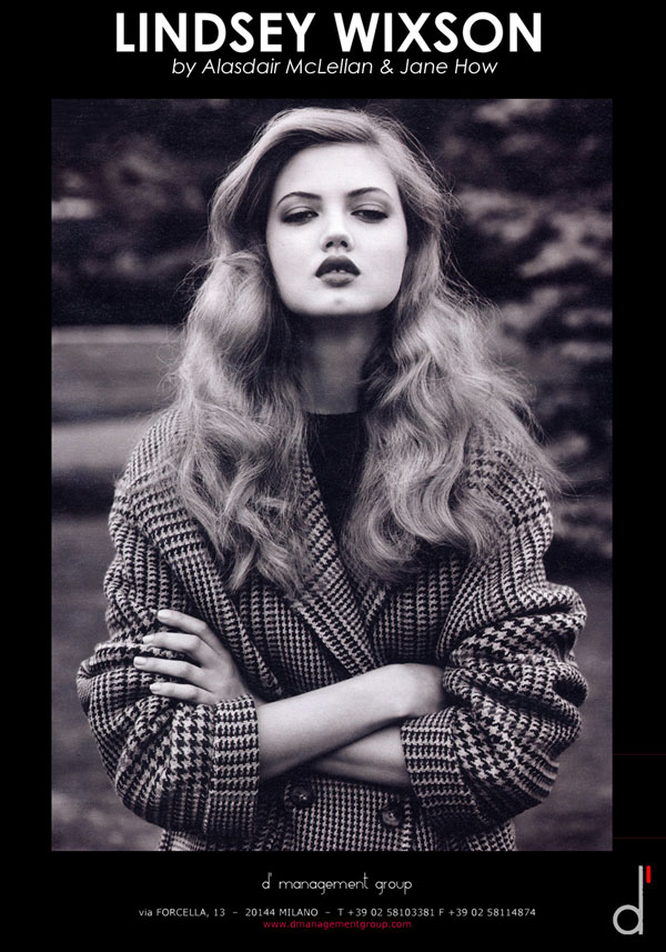 Lindsey Wixson Joins d'management group!