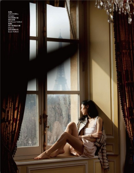 Liu Wen &#038; Mathilde Frachon by Benoit Peverelli | <em>Elle China</em> May 2010