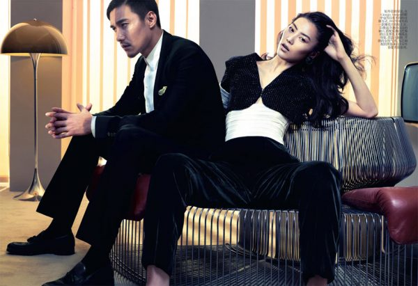 Liu Wen by Sharif Hamza in Giorgio Armani for Vogue China May 2012