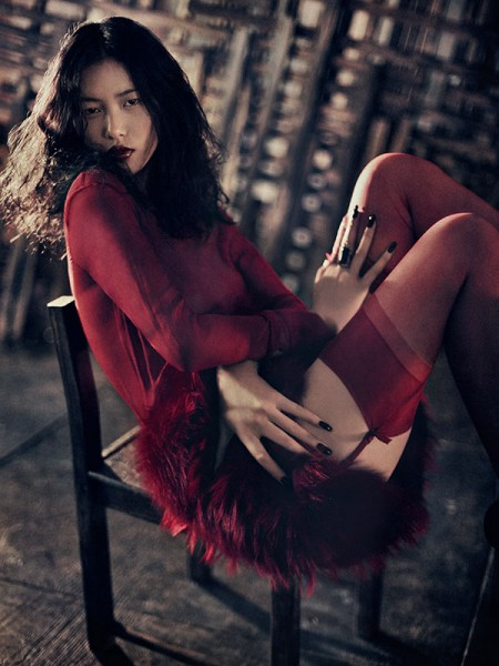 Liu Wen by Sebastian Kim for <em>Muse</em> Fall 2010