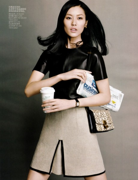 Liu Wen by Yuan Gui Mei in Dress for Success | <em>Vogue China</em> May 2010