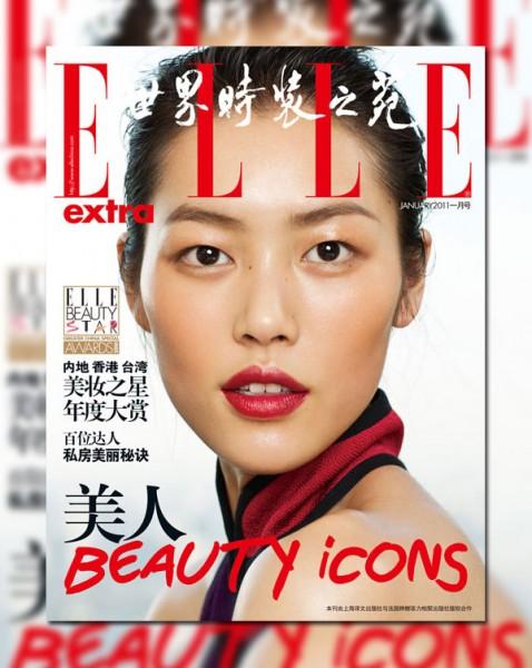Elle China Extra January 2011 Cover | Liu Wen by Yuan Gui Mei