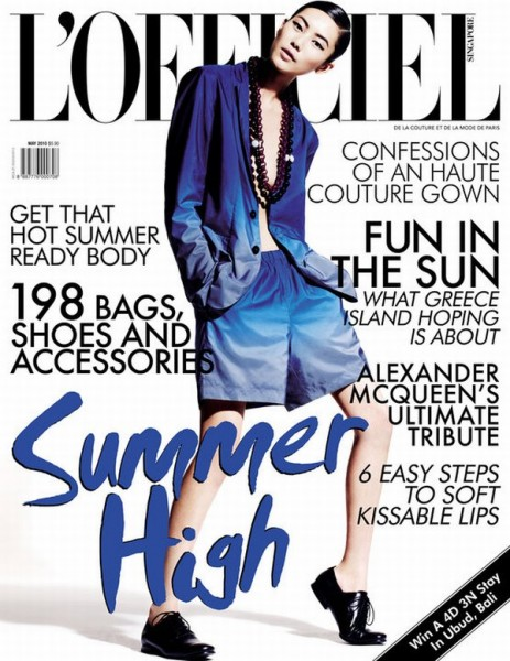<em>L'Officiel Singapore</em> May 2010 Cover | Liu Wen by Wee Khim