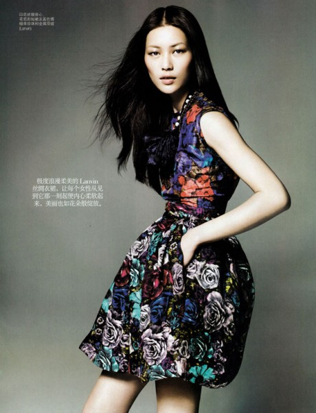 Vogue China January | Liu Wen by Kai Z. Feng