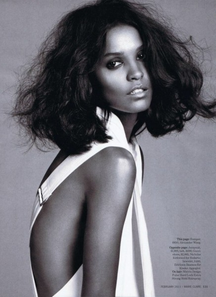Liya Kebede by David Roemer for <em>Marie Claire US</em> February 2011
