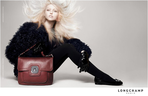 Longchamp Fall 2010 Campaign Preview | Sasha Pivovarova by David Sims