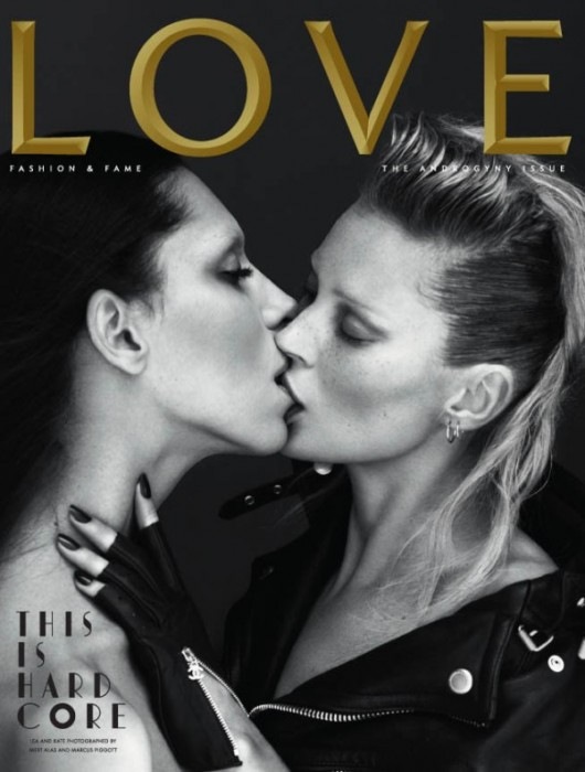 LOVE Spring/Summer 2011 Cover   Kate Moss & Lea T. by Mert & Marcus