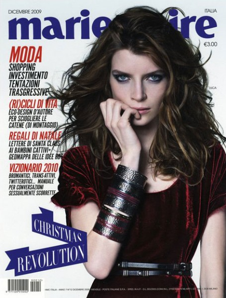 Cover   Luca Gadjus for Marie Claire Italy December 2009