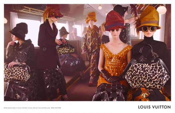 Louis Vuitton's Fall 2012 Campaign Stars Models on a Train, Lensed by Steven Meisel
