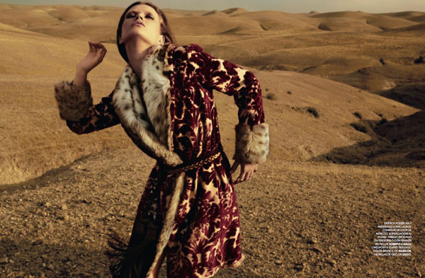 Lyoka Tyagnereva by David Roemer for <em>Marie Claire Spain</em> September 2010