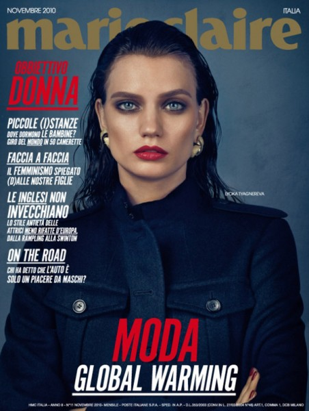 <em>Marie Claire Italia</em> November 2010 Cover | Lyoka Tyagnereva
