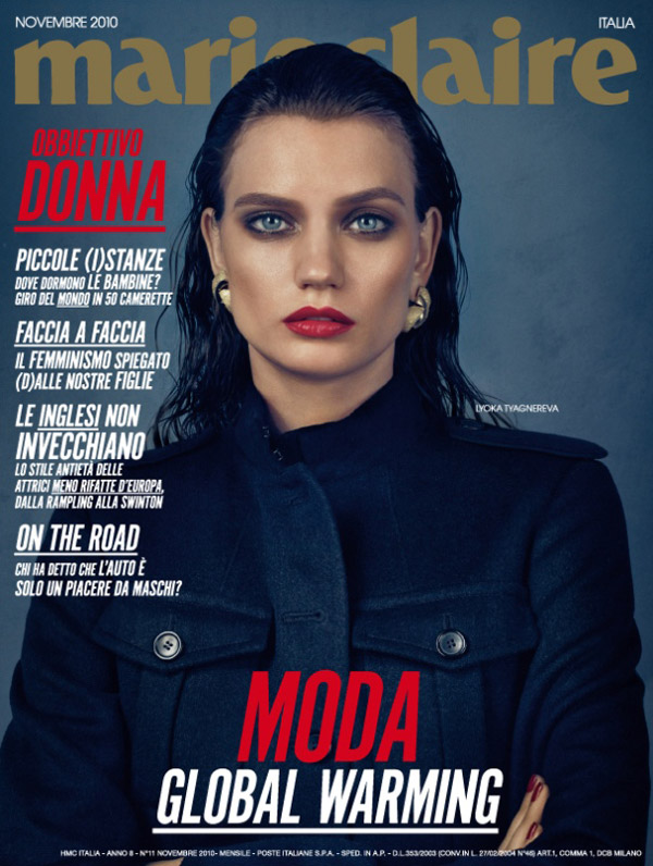 Marie Claire Italia November 2010 Cover   Lyoka Tyagnereva