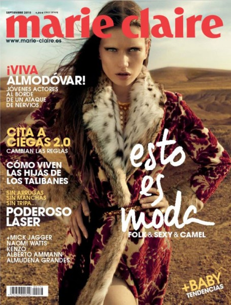 <em>Marie Claire Spain</em> September 2010 Cover | Lyoka Tyagnereva by David Roemer