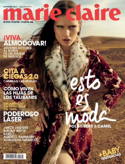 Marie Claire Spain September 2010 Cover | Lyoka Tyagnereva by David Roemer