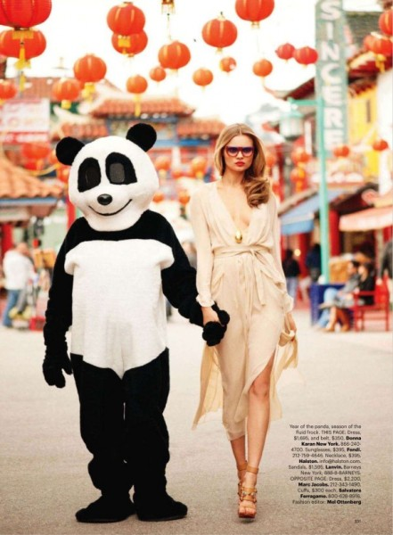 Magdalena Frackowiak by Terry Richardson for <em>Harper's Bazaar US</em> March 2011