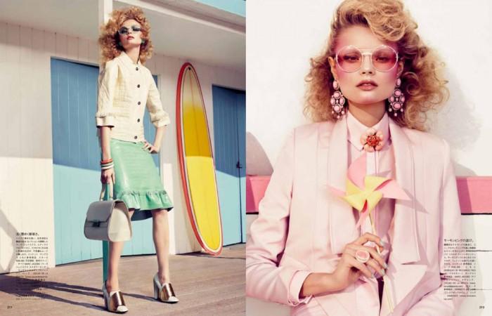 Magdalena Frackowiak by Sharif Hamza for Vogue Japan February 2012