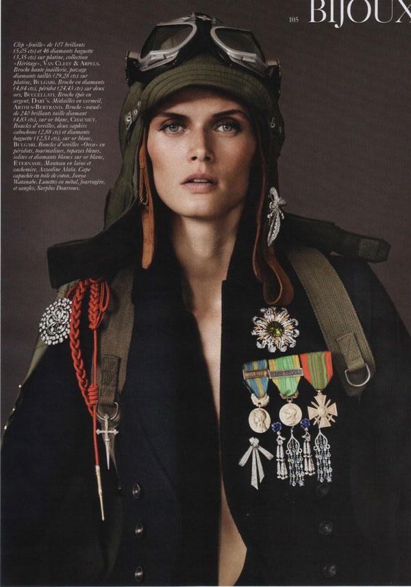 Malgosia Bela by Josh Olins for Vogue Paris August 2010