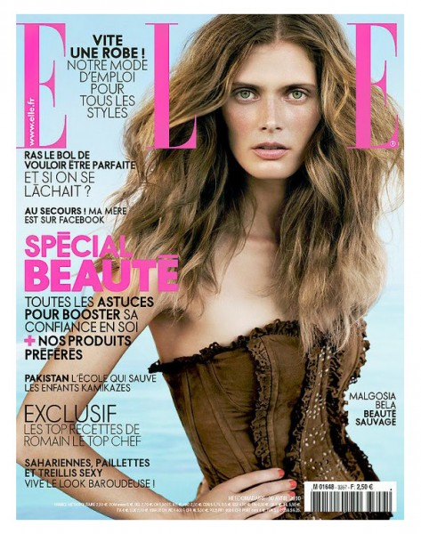 <em>Elle France</em> May 2010 Cover | Malgosia Bela by Jan Welters