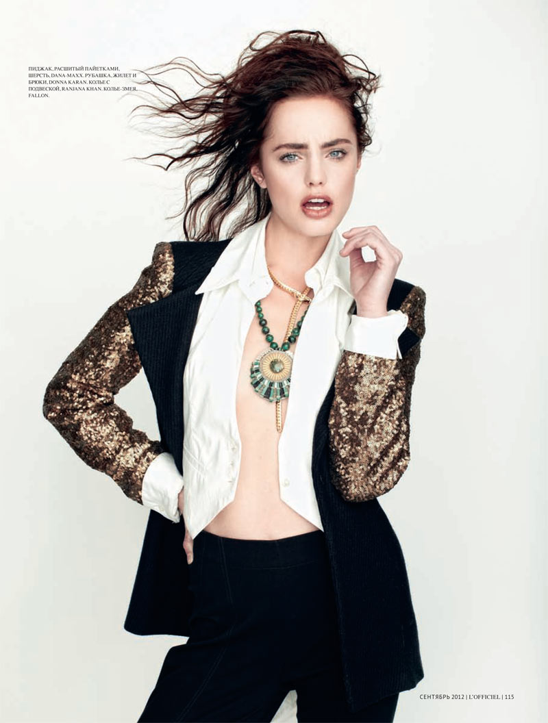 Marinet Matthee Dons Modern Style for L'Officiel Ukraine September 2012