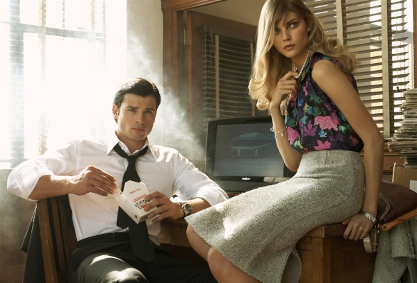 Morning Beauty | Maryna Linchuk & Tom Welling by Steven Meisel (2008)