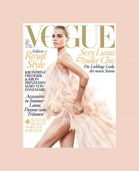 <em>Vogue Germany</em> January 2011 Cover | Maryna Linchuk by Greg Kadel
