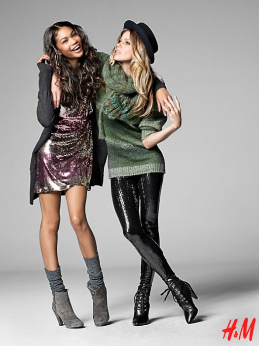 H&M Fall 2009   Chanel Iman & Masha Novoselova by Thomas Klementsson