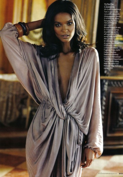 Interno Giorno | Liya Kebede by Matt Jones for Elle Italia