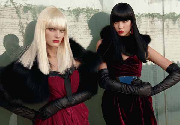 Karlie Kloss & Patricia van der Vliet by Max Vadukul for <em>Vogue China</em> November 2010