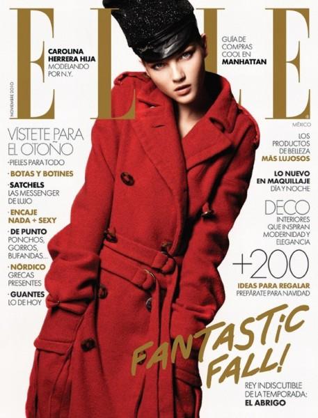 <em>Elle Mexico</em> November 2010 Cover | Mayara Rubik Marchi by Alexander Neumann