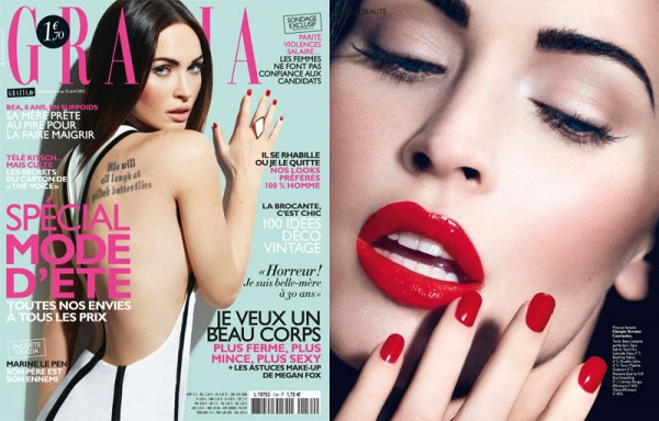 Megan Fox by David Roemer for Grazia France April 2012