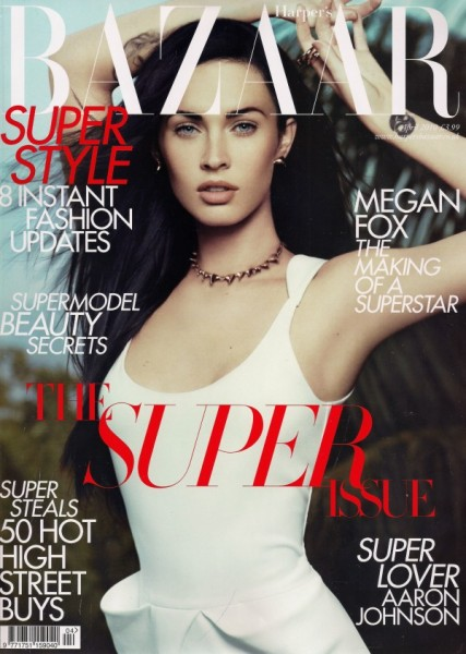 <em>Harper&#8217;s Bazaar UK</em> April 2010 Cover | Megan Fox by Paola Kudacki