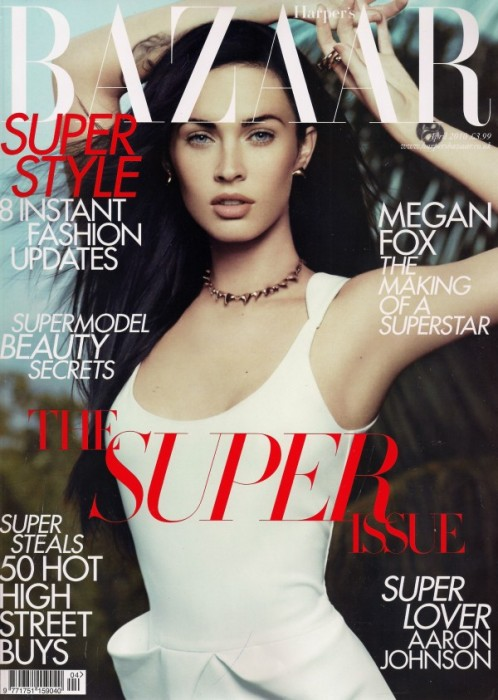 Harper's Bazaar UK April 2010 Cover | Megan Fox by Paola Kudacki