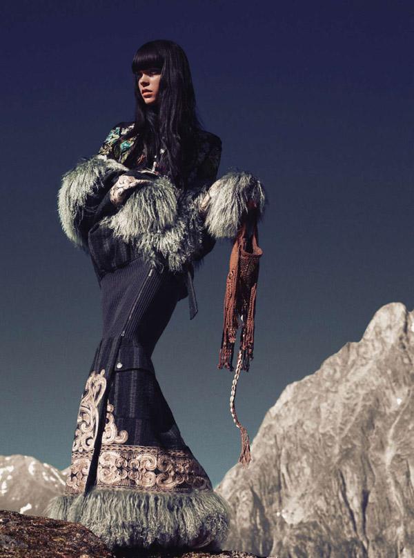 Meghan Collison by Norbert Schoerner for Harper's Bazaar UK November 2010