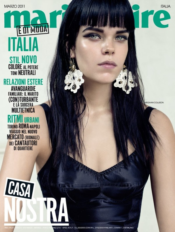 Marie Claire Italia March 2011 Cover | Meghan Collison by Jacques Olivar