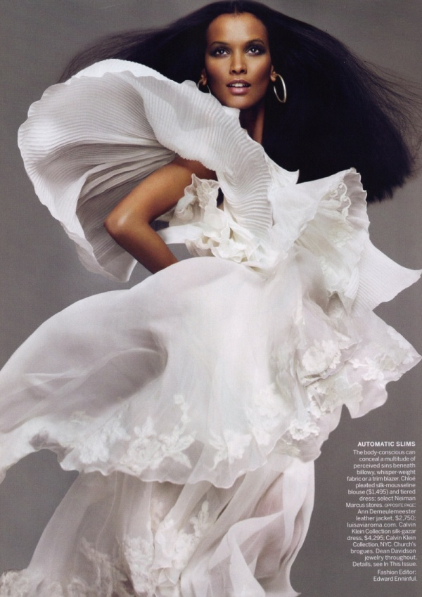 Liya Kebede by Mert & Marcus | Vogue US April 2010